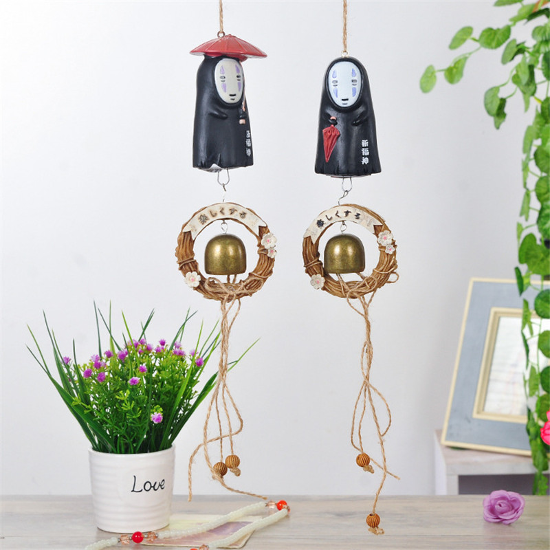 1 Pc Lovely Studio Ghibli NO FACE Man Windbell Wind Chime Metal Bell PVC Action Figure Resin Collection Model Toy Doll Gifts1 Pc Lovely Studio Ghibli NO FACE Man Windbell Wind Chime Metal Bell PVC Action Figure Resin Collection Model Toy Doll Gifts