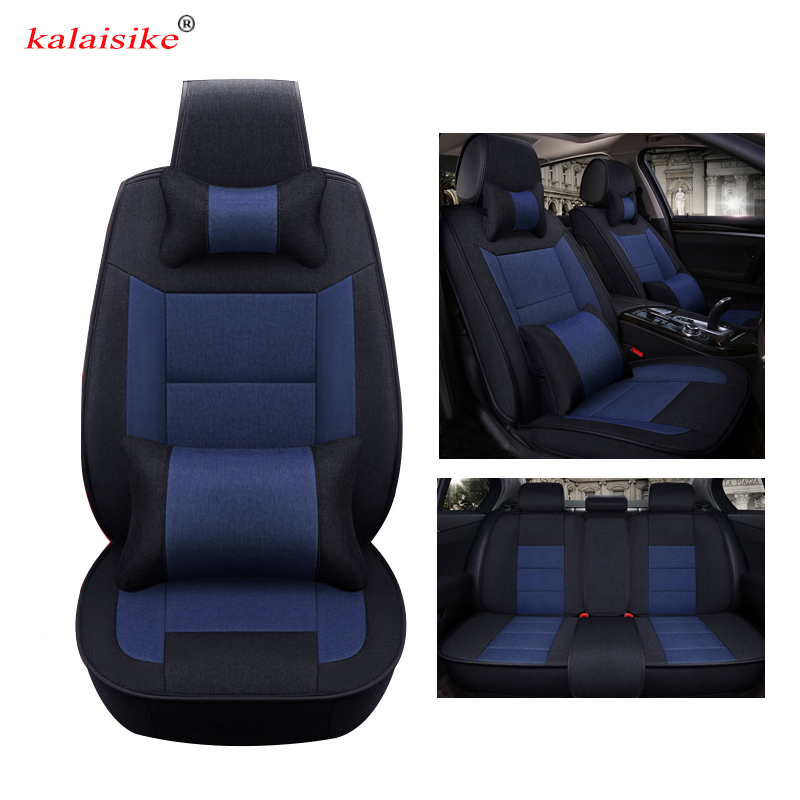 Kalaisike Flax Universal Car Seat cover for Subaru all model Outback forester XV Legacy impreza car styling auto accessories