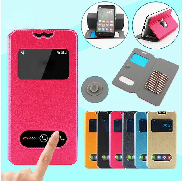 Flip Leather Phone Case For Pantech Discover P9090 Double Small View