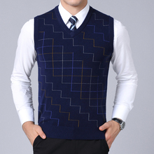 2019 New Fashion Brand Sweater Men Pullovers Vest Slim Fit Jumpers Knitwear sleeveless Autumn Korean Style Casual Clothing Male