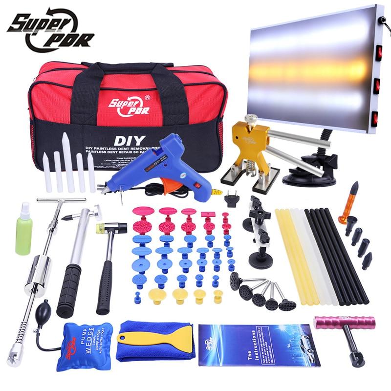 PDR Car Dent Repair Tool set Dent removal tool kit Slide Hammer Aluminum lamp board Dent Puller 68pcs auto body repair tools pdr hook tool set pack of 2pc a5a6
