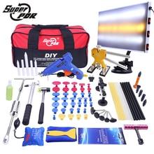 Conjunto de Herramientas de Reparación Dent removal tool kit Car Dent PDR Slide de Aluminio de la lámpara junta Dent Puller 68 unids herramientas de reparación de carrocerías de automóviles