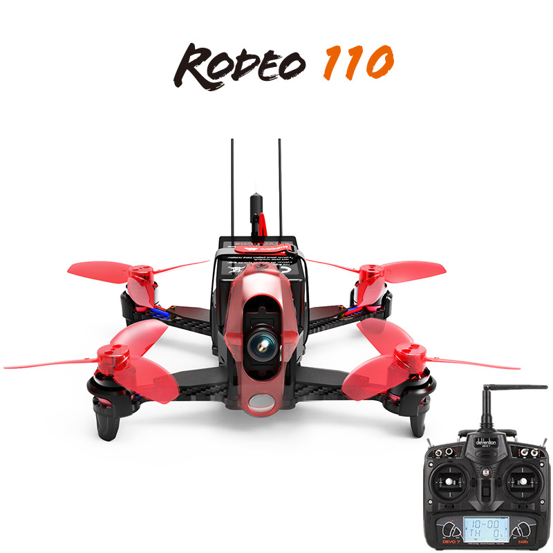2017 Hot Walkera Rodeo 110 with Devo 7 Remote Control Racing Drone RC Quadcopter Rtf (600TVL Camera Included ) walkera runner 250 advance with 1080p camera racer rc drone quadcopter rtf with devo 7 osd camera gps 2 version
