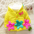 2015 big flower and bee girls winter warm jacket kids girls outwear baby girls lovely animal ducky coats sweaters 2015 KT539R