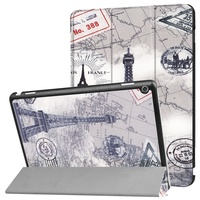For Huawei MediaPad M3 Lite 10 Cases Colorful Painting Tri Fold Stand Leather Case Cover For