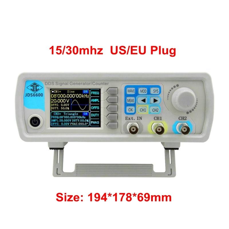 JDS6600 Series Digital Control Dual channel DDS Function Signal Generator Frequency Meter Arbitrary Sine Waveform US