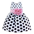 2017 Verano ropa Para Niños Niñas Vestido del punto de Polca Pequeña Ola de Proa Del Niño Vestido de Ropa Linda Princesa Vestido de Fiesta