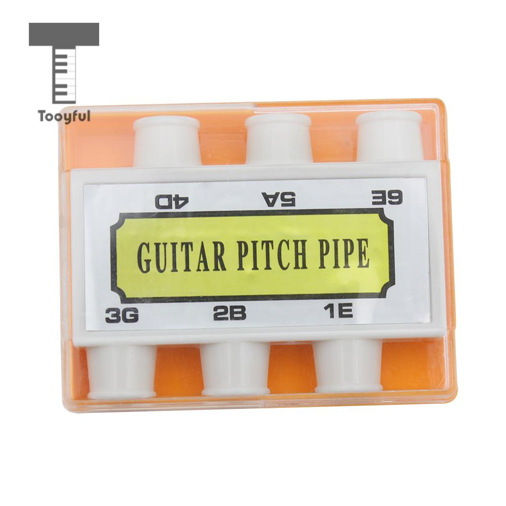 Tooyful Portable 6 Tones Guitar Pitch Pipe Standard Timbre Tuner Musical Instrument Accessory