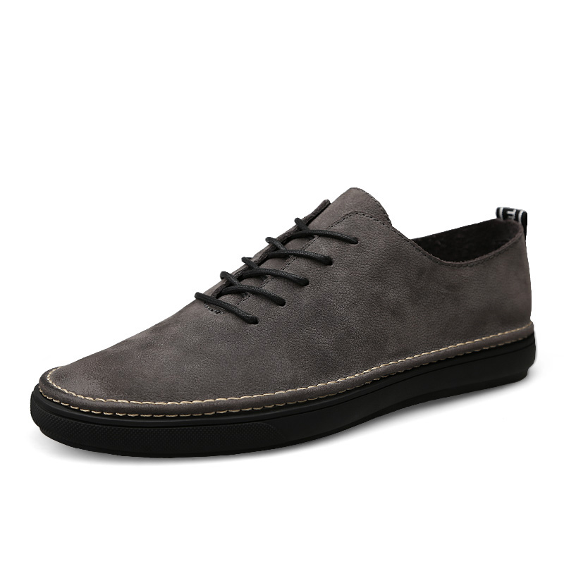 Genuine Leather Men Casual Shoes Lace Up Male Luxury Flats Comfy Sneakers Quality Autumn Walking Shoes Man Fashion Plus Size vesonal 2017 brand casual male shoes adult men crocodile grain genuine leather spring autumn fashion luxury quality footwear man