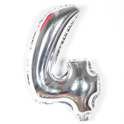 VIPOINT PARTY 16inch silver 0 9 number foil balloons wedding event christmas halloween festival birthday party HY 309 in Ballons Accessories from Home Garden