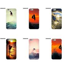 EJGROUP TPU Pattern Case Cover For Apple iPhone 4 4S 5 5C SE 6 6S 7 8 Plus X Billabong Surfboards Sunset Surf(China)