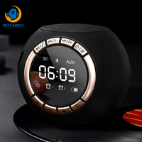 Portable Wireless Bluetooth Digital Table Mini Alarm Clock Music Speaker FM Radio LED Display Snooze Electronic Table Clock