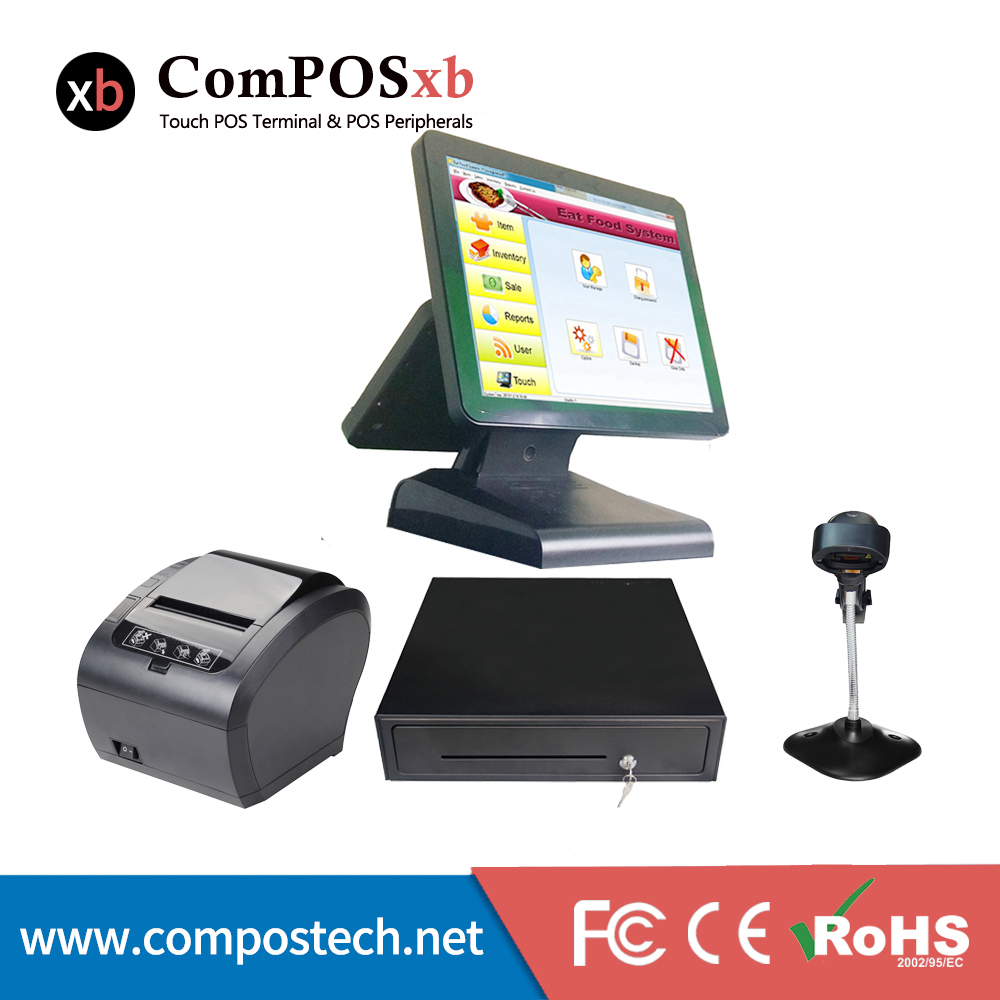 цена на free shipping a set of retail cash register pos system point of sales