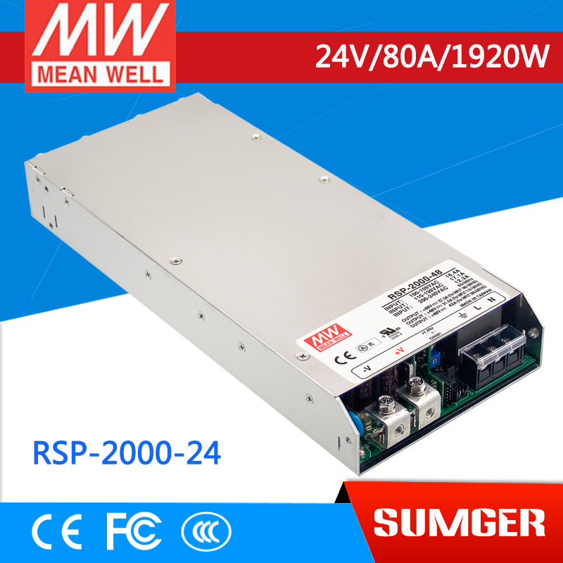 где купить  [NC-C] MEAN WELL original RSP-2000-24 24V 80A meanwell RSP-2000 24V 1920W Single Output Power Supply []  дешево