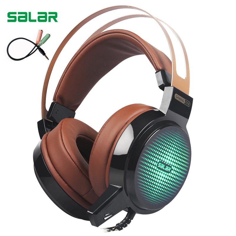 Salar C13 Gaming Headset Wired PC Stereo Earphones Headphones with Microphone for computer Gamer headphone