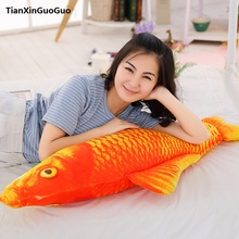 stuffed toy cute red carp large 120cm fish plush toy soft doll throw pillow birthday gift s0214