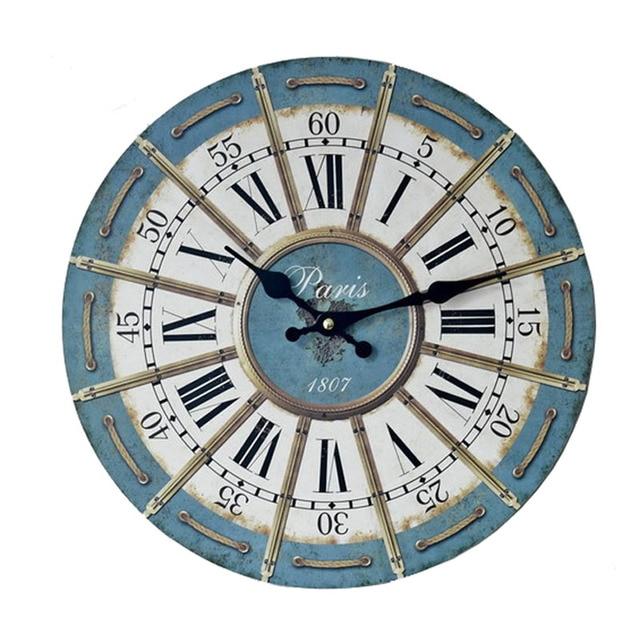 2358fc82c17 2017 Novo Design de Relógios De Parede De Madeira da Antiguidade Do Vintage  Mobiliário de Casa