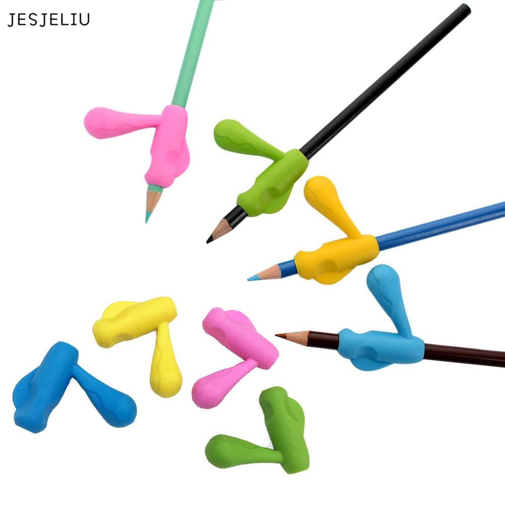 Jesjeliu 2 шт. детей карандашница перо сцепление помощь коррекции осанки устройства инструмент ...