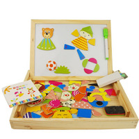 The new infant child education puzzle wooden toys jigsaw puzzle with a paternity