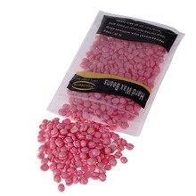 100g Pink Rose Flavor Hard Wax Beans Depilatory Hot Film Hard Wax Pellet Waxing Hair Removal Bean Powerful Clean Removal Hair