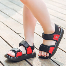 2018 Summer beach boy sandals kids genuine leather shoes fashion sport sandal children sandals for boys girls flats casual shoes цена