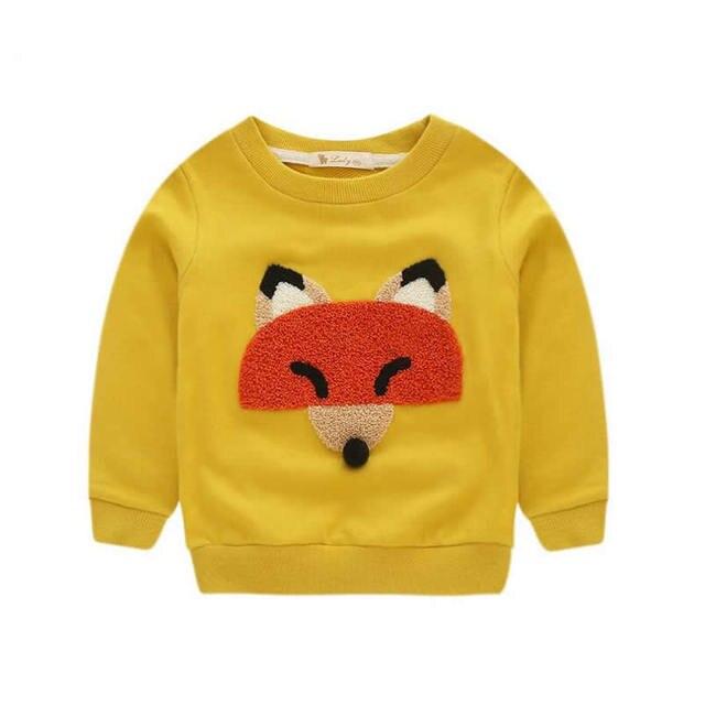 Дети свитер в весна осень Новый Дети толстовки пальто фокс шаблон девочек/мальчиков толстовки