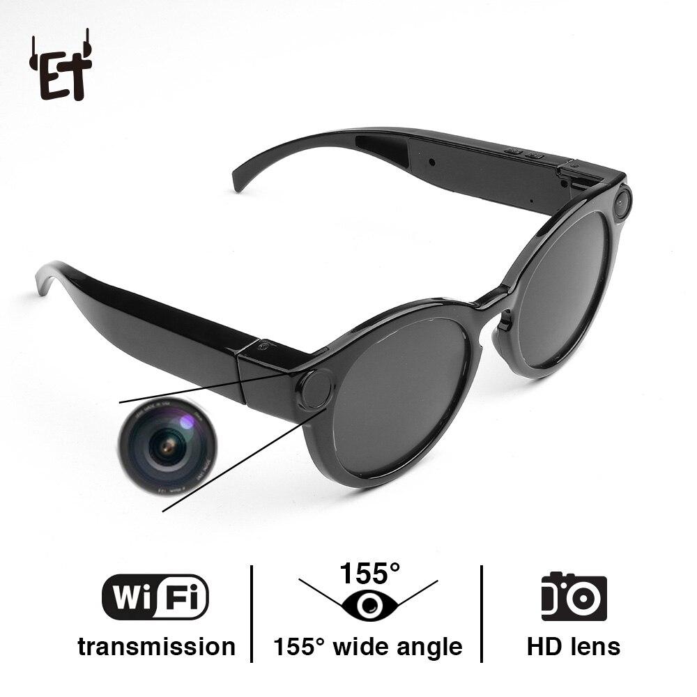 cb49d5b0e ET K11 Óculos Inteligentes Wi-fi Câmera HD Óculos Óculos de Equitação Óculos  Óculos de Sol Câmera DVR Gravador de Vídeo 1080 P Instantâneo Mini camcorder