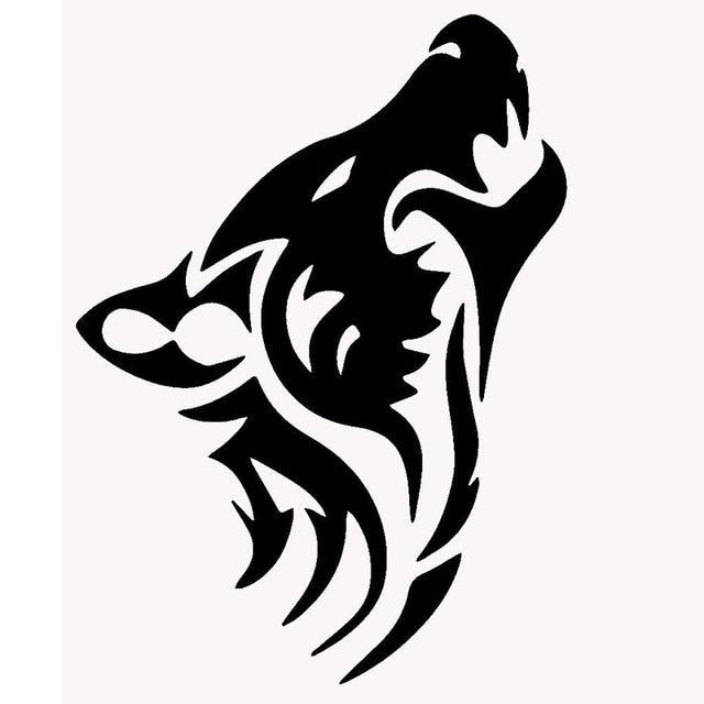 comprimento 50 cm lobo clássico silhueta etiqueta do carro para