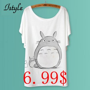Totoro-Print-Women-T-Shirts-Fashion-Cartoon-Animal-Panda-Lion-Cat-Printed-Batwing-Sleeve-T-Shirt