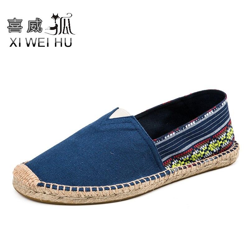 Xiweihu летние женщины эспадрильи конопли обувь