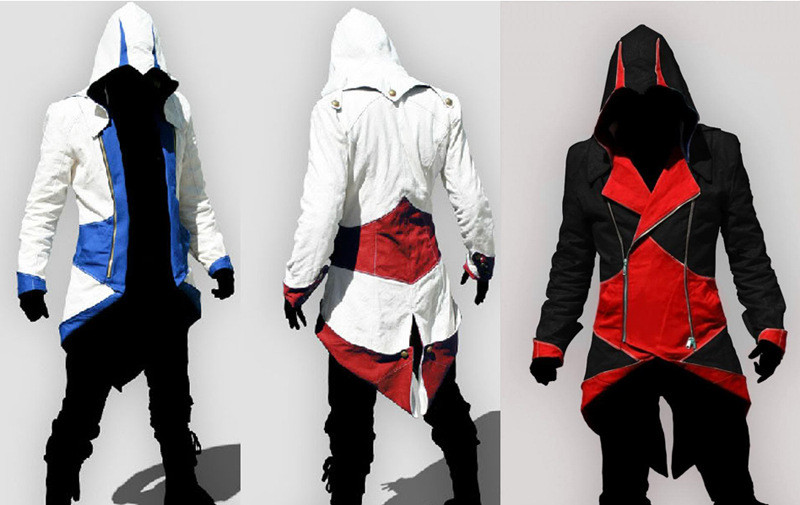 Assassins Creed 3 Iii Conner Kenway Hoodie Jacket Aassassins Creed
