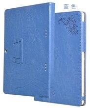 Flor de la impresión de lujo de la pu leather case cubierta para teclast 98 octa núcleo 10.1 pulgadas tablet + stylus pen case protección pista no.