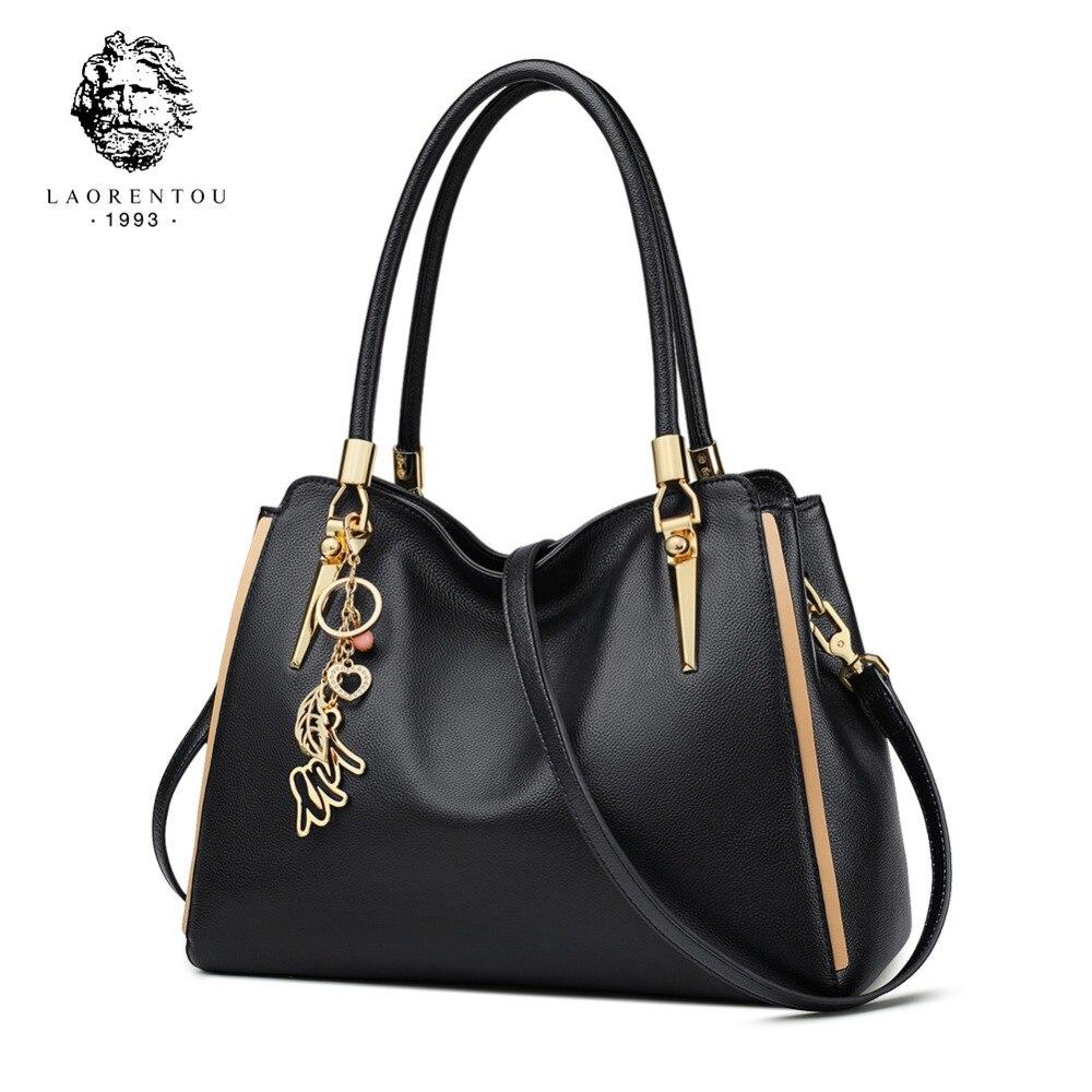 LAORENTOU Women Genuine Leather Handbag Crossbody Bag Women s Bags Valentine s Day Present Lady Casual