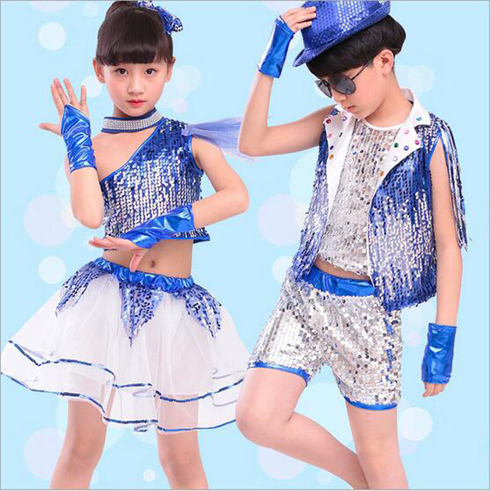 Bazzery Children Jazz Dance Clothes With Wristbands Modern Dance Ballroom Costume Jazz Suit For Primary School Kindergarten Kids