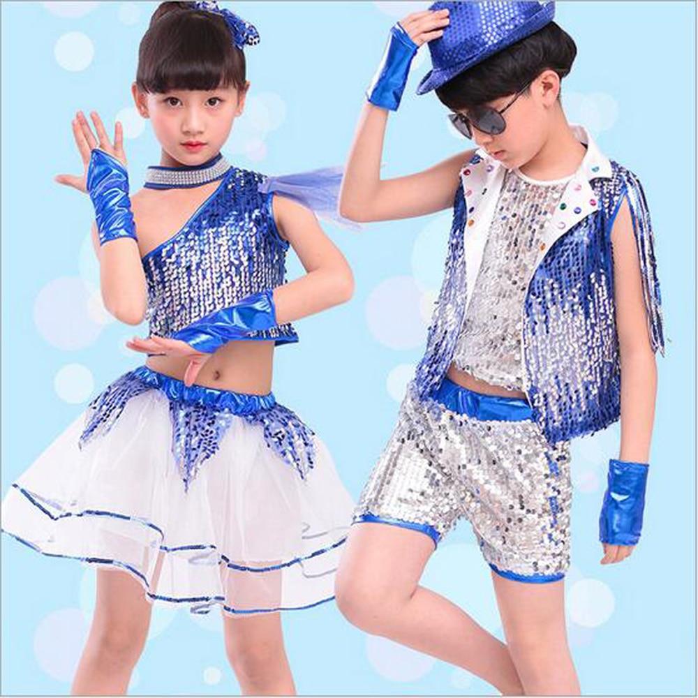 Bazzery Children Jazz Dance Clothes With Wristbands Modern Dance Ballroom Costume Jazz Suit For Primary School Kindergarten Kids