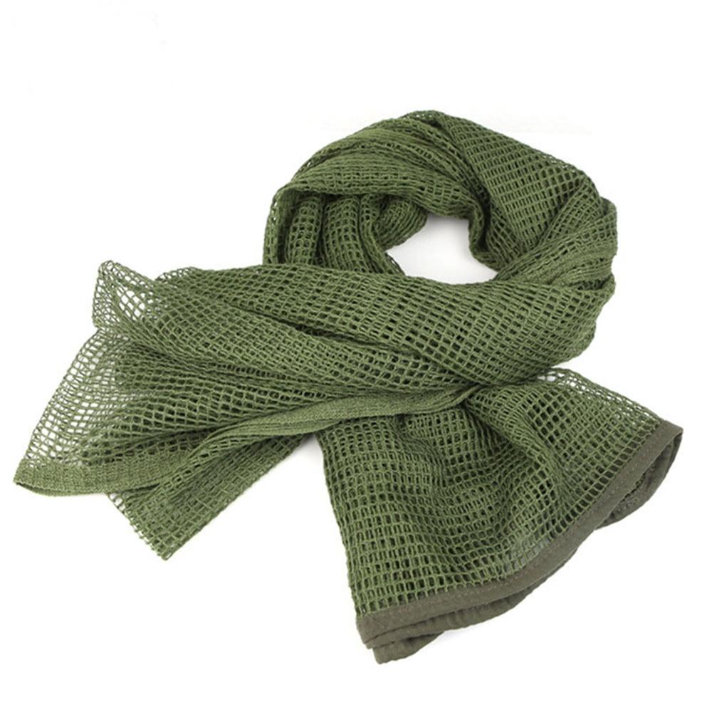 Vehemo хлопок оливковое маска для защиты лица полевое, для выживания шарфы для женщин тактический шарф сетчатый ветер - Цвет: military green