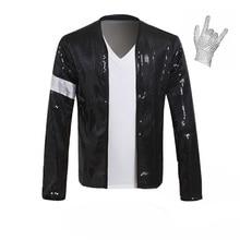 Rare Super MJ Michael Jackson Costume Billie Jean Bracciale Giacca di  Paillettes regalo un guanto( 947eb11de284