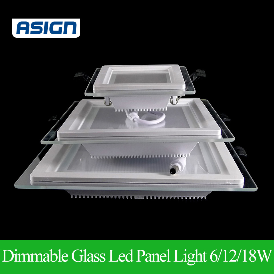 dimmable led panel downlight super bright glass square. Black Bedroom Furniture Sets. Home Design Ideas