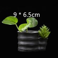 Round Simple Creative Desktop Concrete Planter Mold DIY Pen Holder Making Cement Vase Silicone Mould