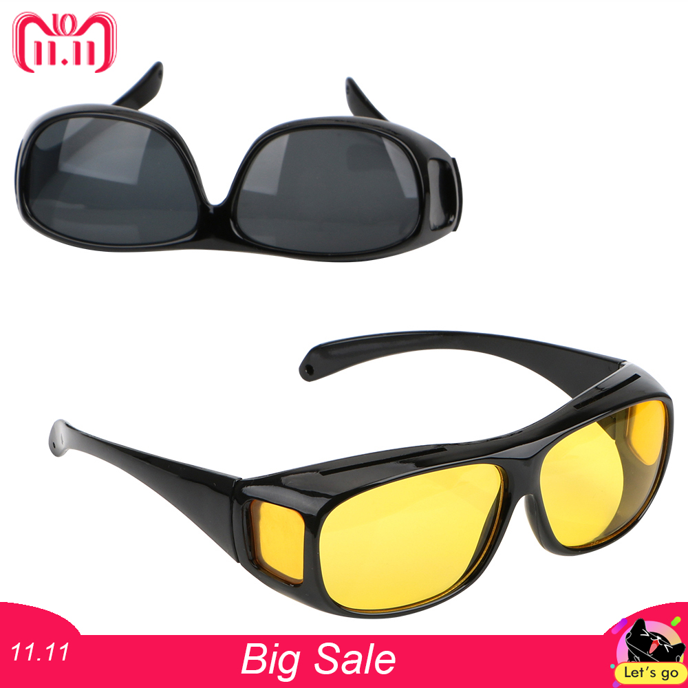 Car Night Vision Goggles Polarized Sunglasses Unisex HD Vision Sun Glasses Eyewear UV Protection Car Driving Glasses car driving glasses eyewear uv protection men women sunglasses goggles hd yellow lenses sunglasses night vision