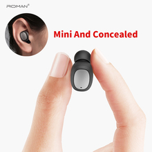 лучшая цена Roman Mini Bluetooth Earphone, Bluetooth Headset Wireless Earbud Earphone Hands-free For Car Driving Phone Sport With packing