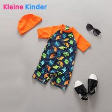 Unisex Kids Swimsuit Boys 2Pcs Summer UV Protection Toddler Infant Baby Swimwear One Piece Jumper Swimming Suit Girl Fish Print(China)