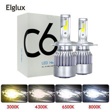 H7 H4 H11 HB4 Led Bulbs All In One Car Headlights 36W 7600LM COB Marker 6000K Auto Led Light Front Headlamp DC 9-30V Car Styling(China)