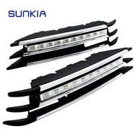 SUNKIA 2Pcs/Set Waterproof LED Daytime Running Light DRL For VW Volkswagen Toureg With Turning Signal and Dimmed Function