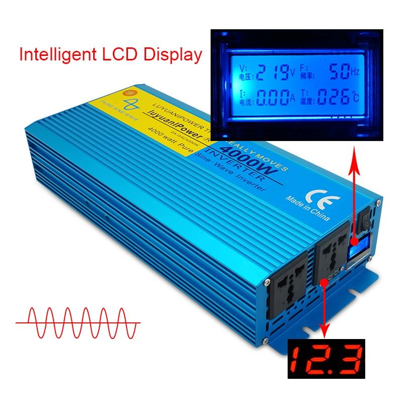 Digital Display Pure Sine Wave Power Inverter 3000w Dc 12v