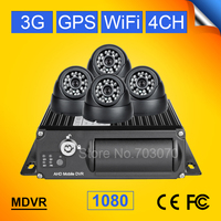 Dual Sd 3G GPS WIFI 1080 Ahd Mobile Dvr Support 4pcs Cameras Gps Tracker Real Time