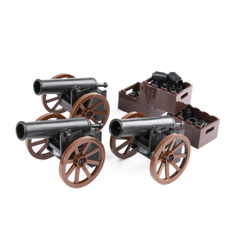 Medieval cannon weapon model HOT military army Roman soldier parts building block toy Legoginglys accessory assembly model in Blocks from Toys Hobbies
