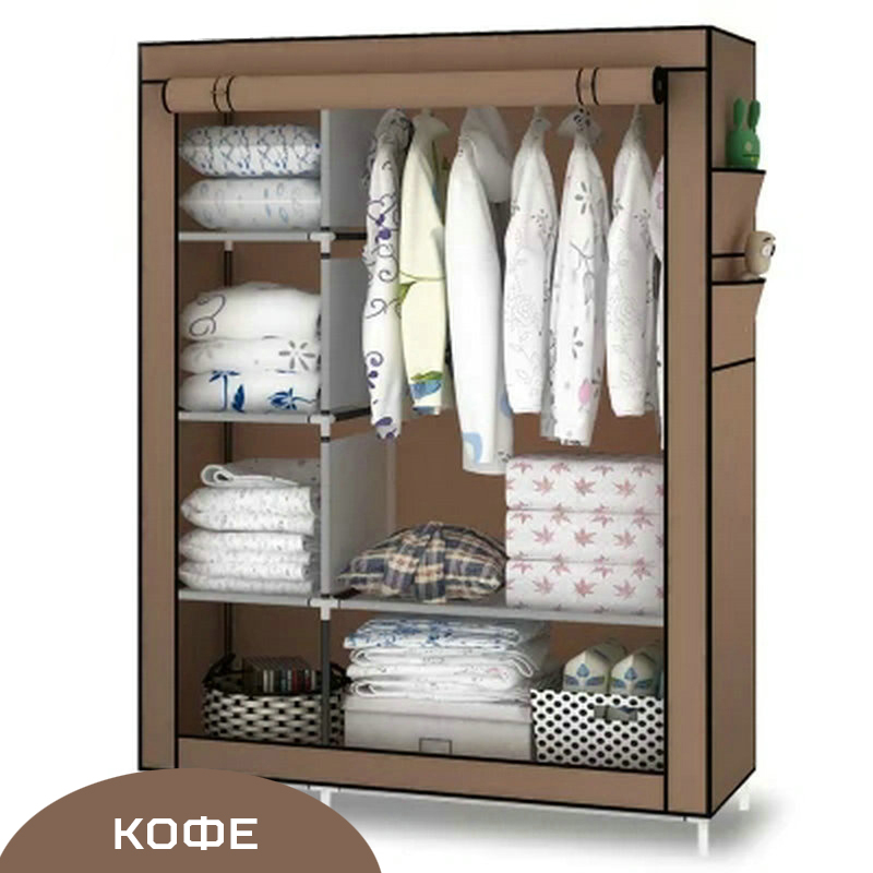 Cabinet:  Multifunctio Simple DIY Wardrobe Folding Portable Clothes Closet Non-woven Fabric Cabinet Storage Organizer Home Furniture - Martin's & Co