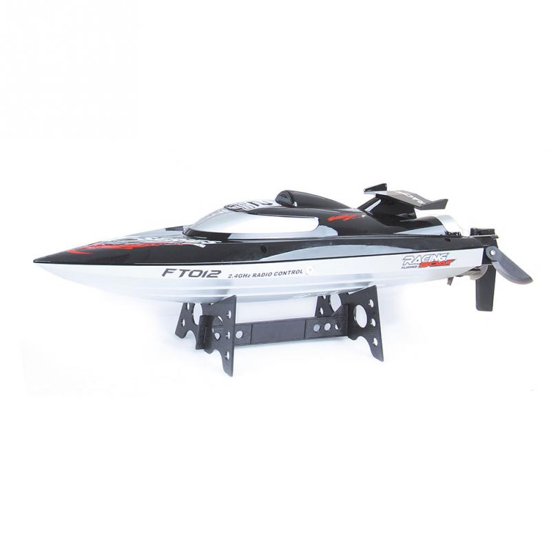 46x12.5x11.8CM FT012 2.4G 4CH Remote Controlled Brushless Racing RC Boat 45 km/h Black ft012 15 brushless esc spare parts for ft012 rc racing boat
