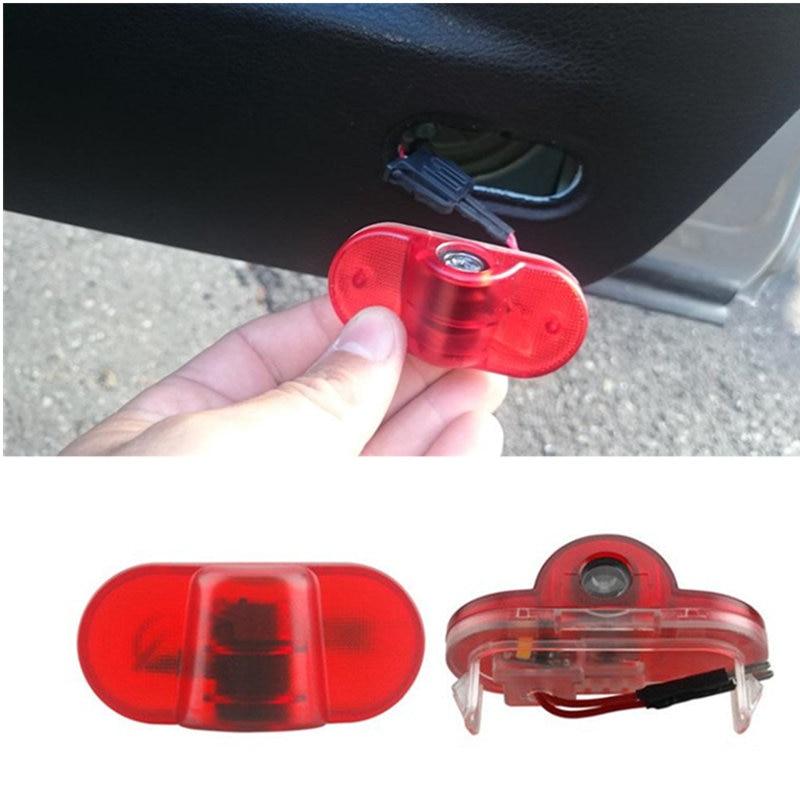2x LED Car-styling Door Light Welcome Door Warning Light Laser Logo Projector Lamp For Skoda Octavia 2004-2008 Car Accessories